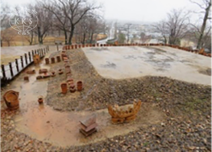 【国指定史跡】 整備に伴う調査で精巧な船形埴輪が出土した古墳。